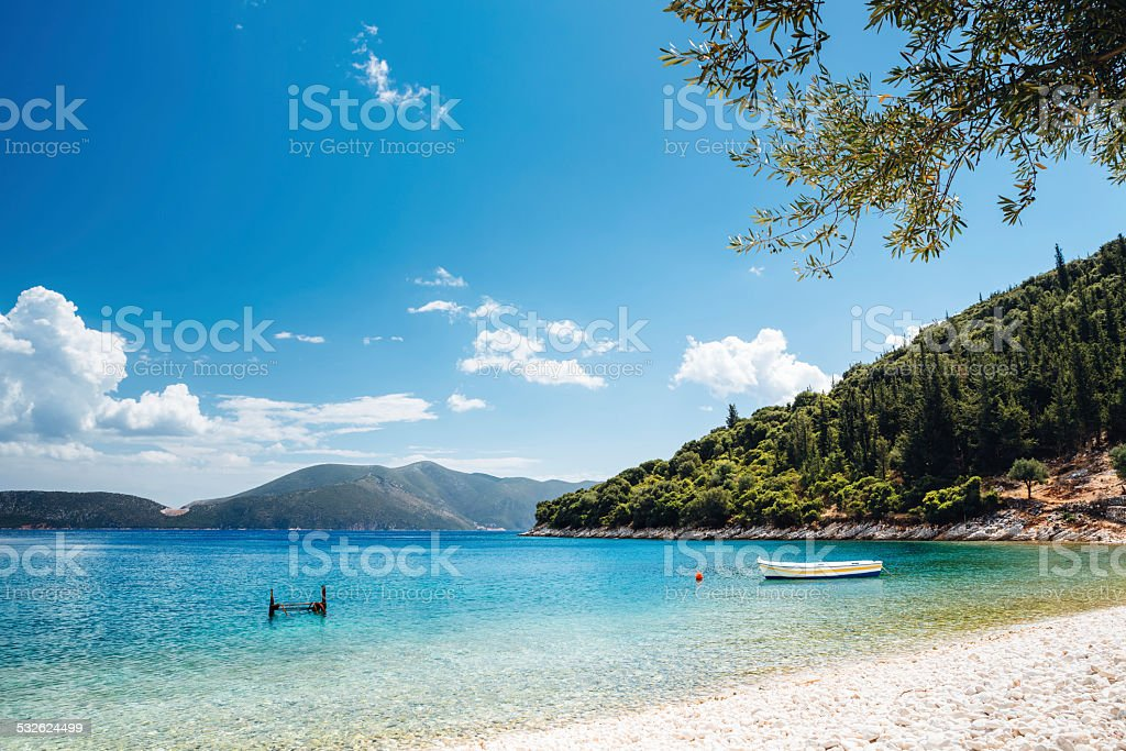 Horogta Beach Kefalonia stock photo