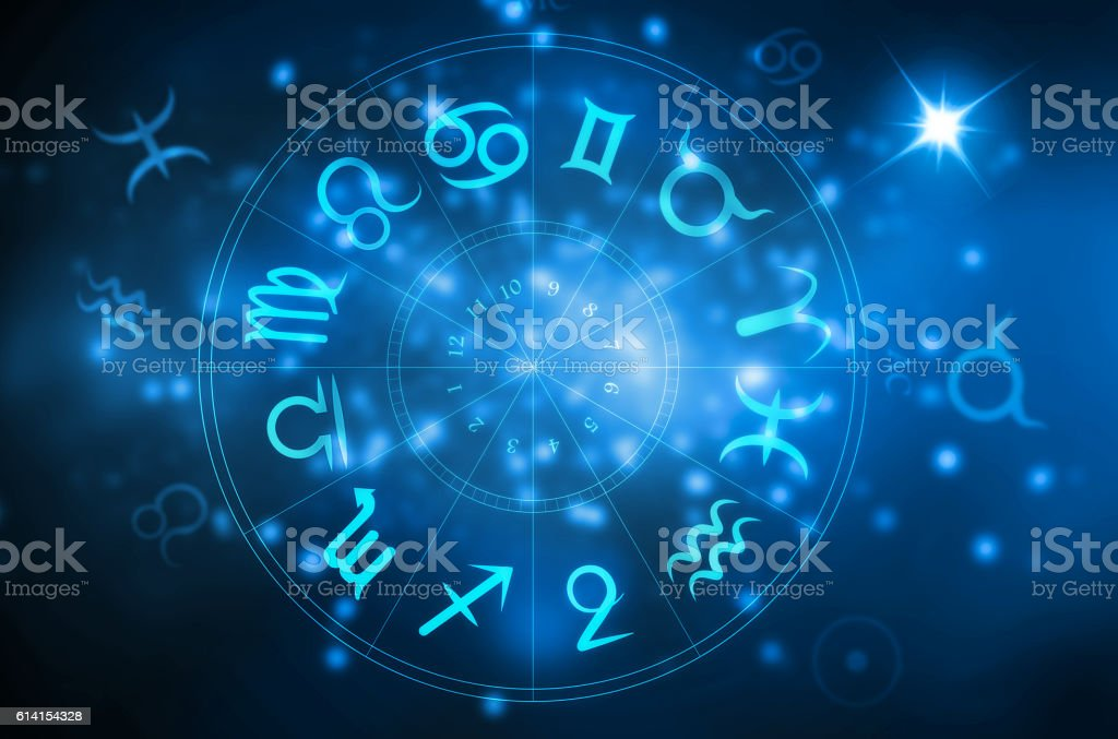 horoscope wheel stock photo