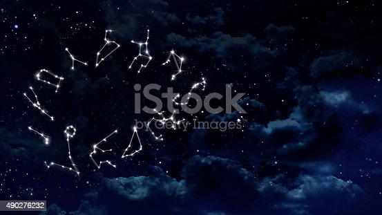 istock Horoscopes night white 490276232