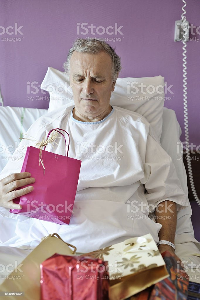 horrible present in hospital stock photo