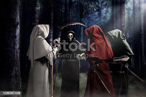 istock horror apocalypse knights 1036367448