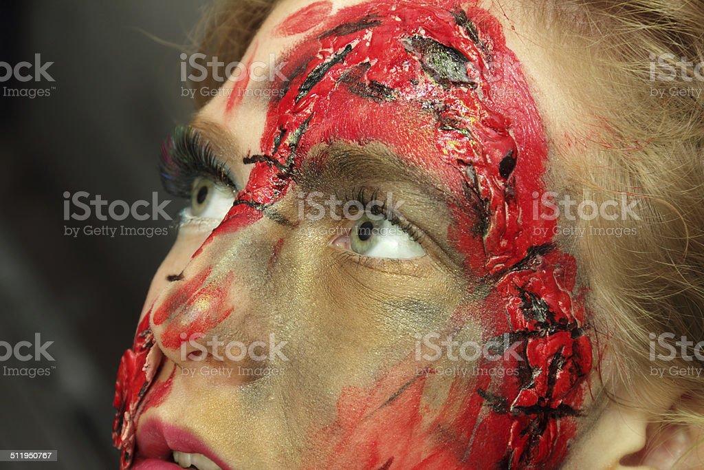 horror close up stock photo