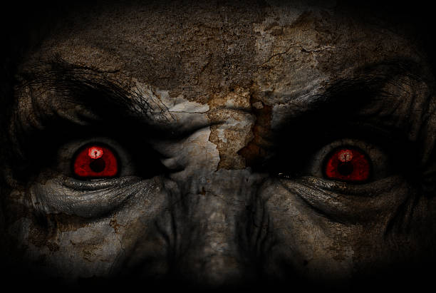 horror face - demon stock photos and pictures