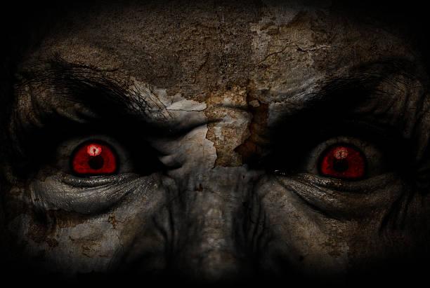 horror gesicht - brüllender tod stock-fotos und bilder