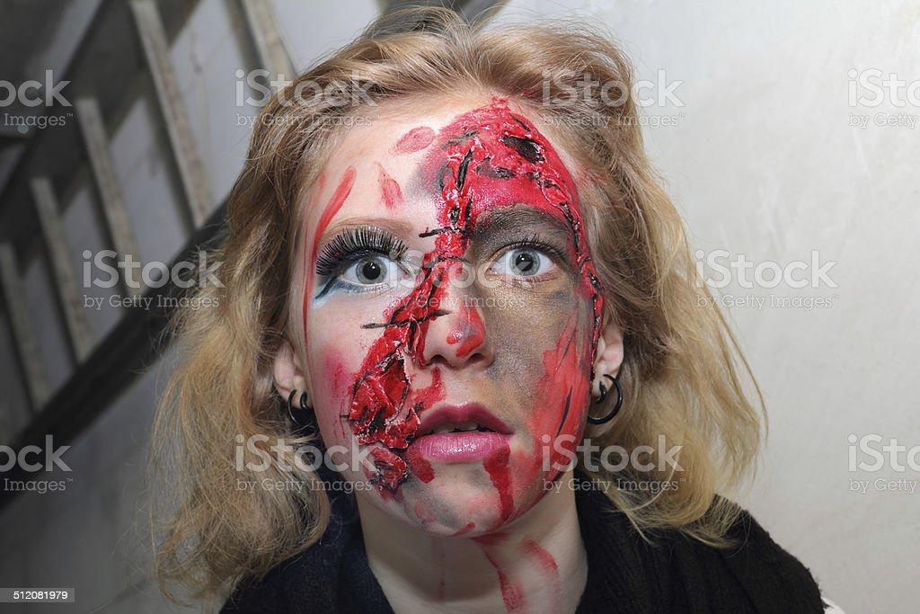 horror glance stock photo