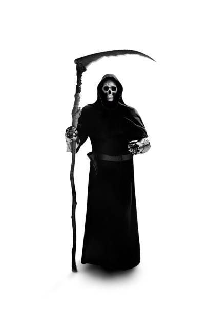 horror grim reaper stock photo