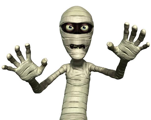 horror-mummy - cartoon kostüme stock-fotos und bilder