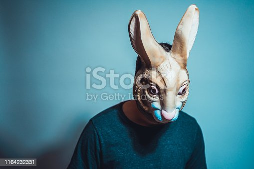 horror rabbit mask for halloween themes