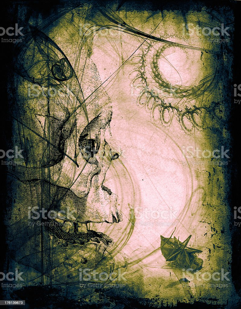 Horror Skull Halloween Background royalty-free stock photo