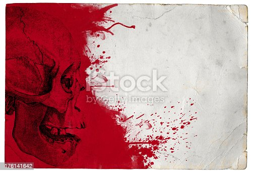 istock Horror Skull Halloween Background 176141642