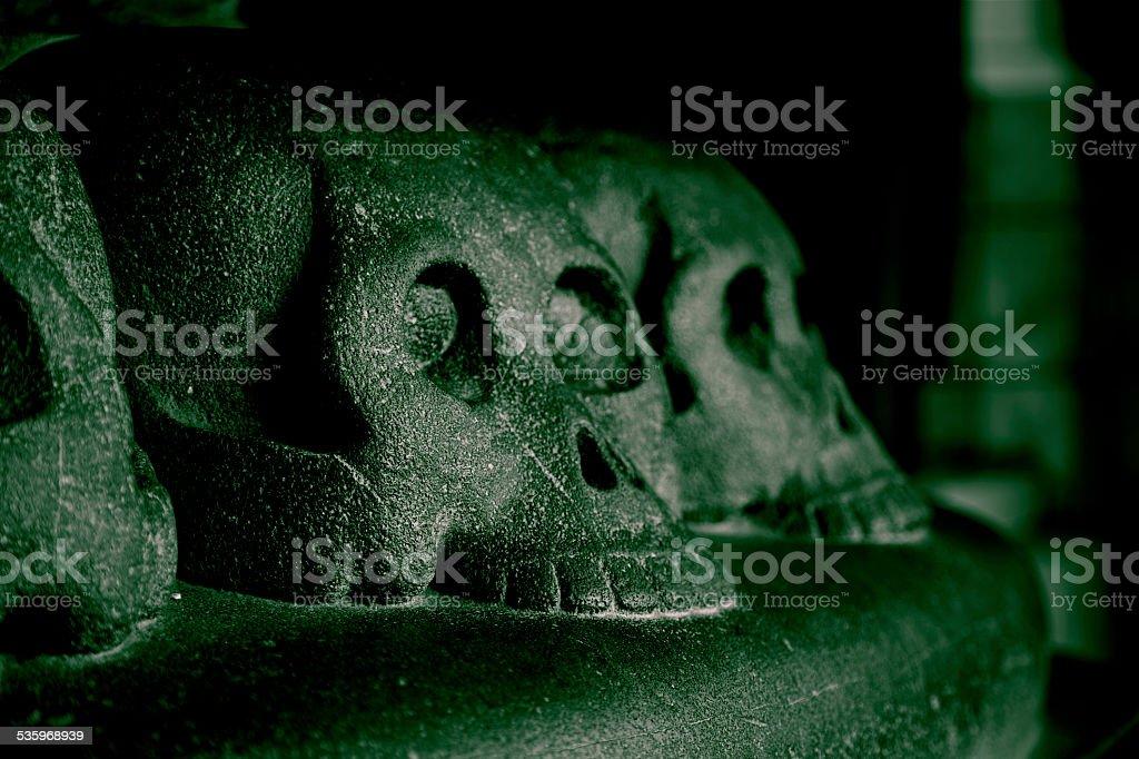 Horror Skull Hell Death Fear Danger Evil Curse Spooky Archeology stock photo