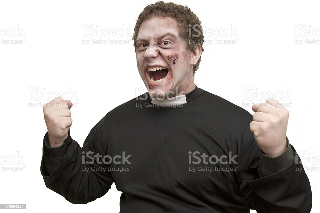 horror-priest royalty-free stock photo