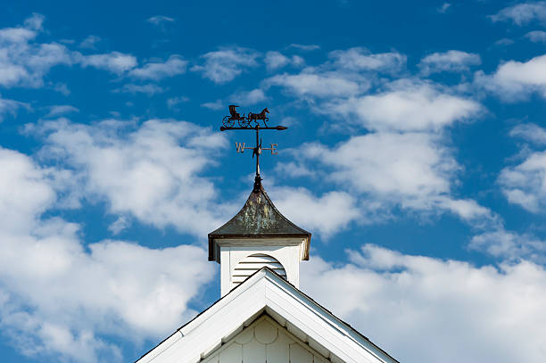 horse and buggy weathervane - cupola stock pictures, royalty-free photos & images