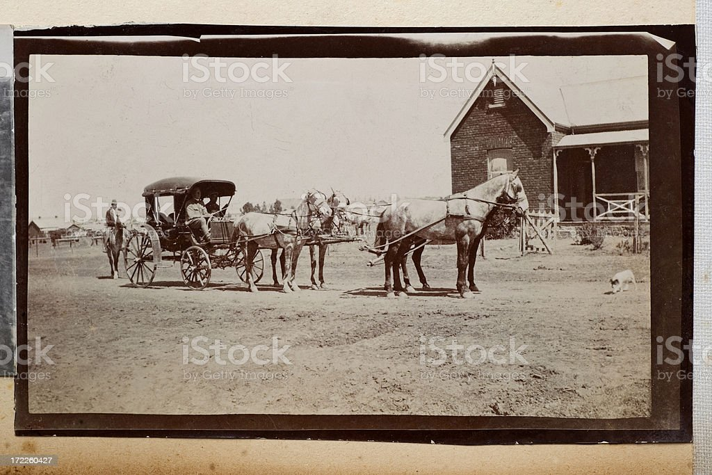 Horse and carriage royalty-free stock photo