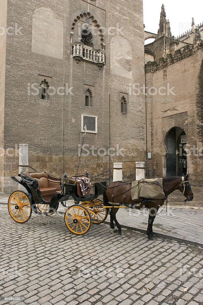 horse and cart royalty-free stock photo