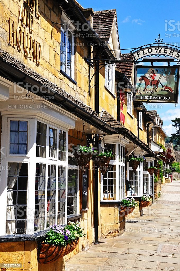 Horse and Hound Pub, Broadway. stock photo