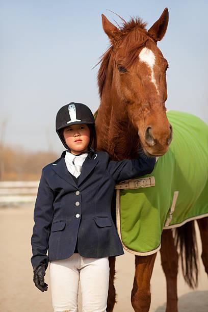 Pferd-und-jockey-Motiv – Foto