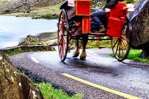 Cheval et piège sur la route via Gap of Dunloe - Photo