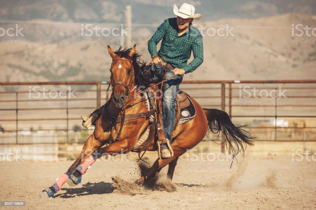 baril de cheval courir - Photo