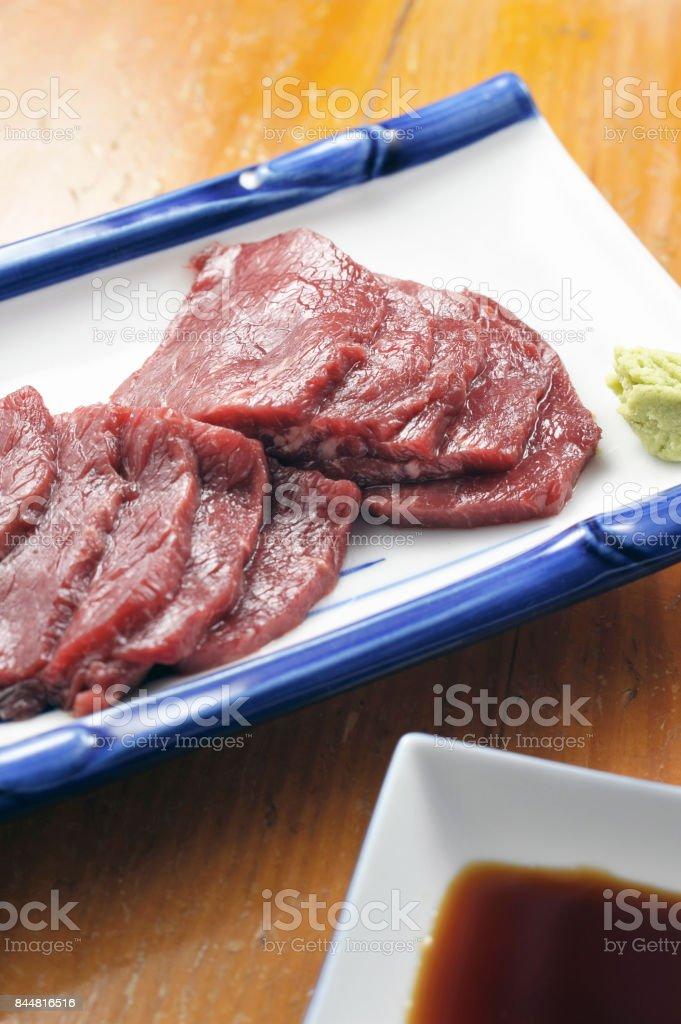 Horse bites stock photo