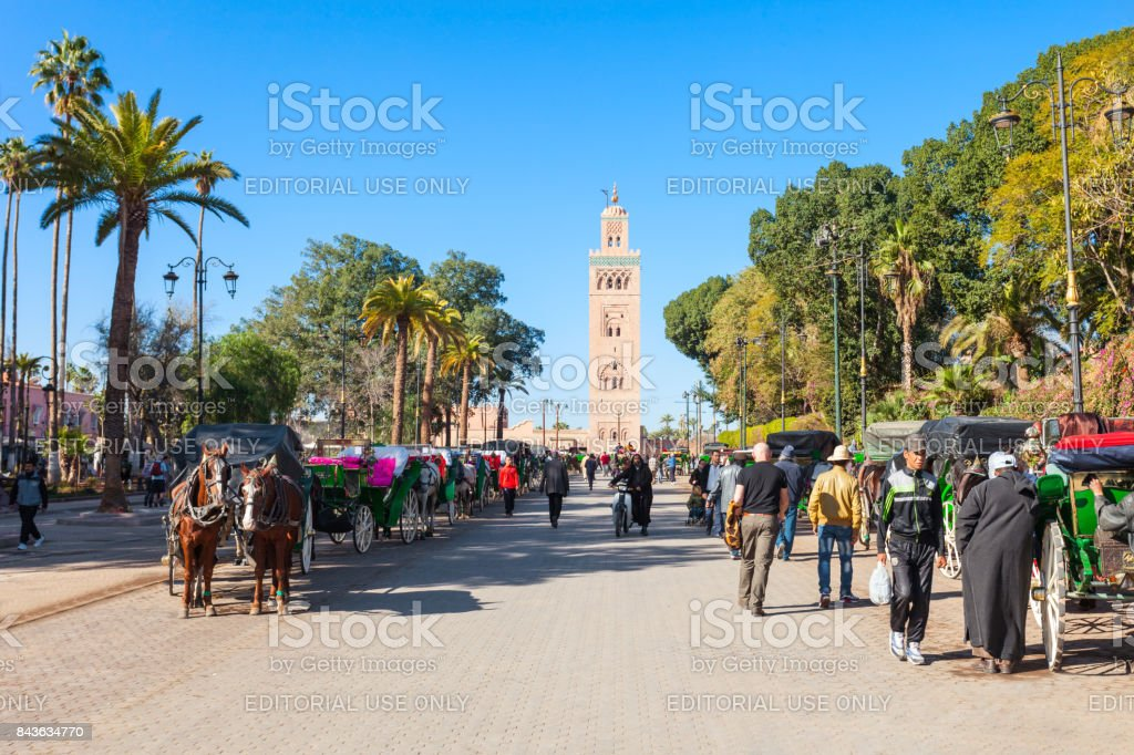 Horse carriage, Marrakesh stock photo