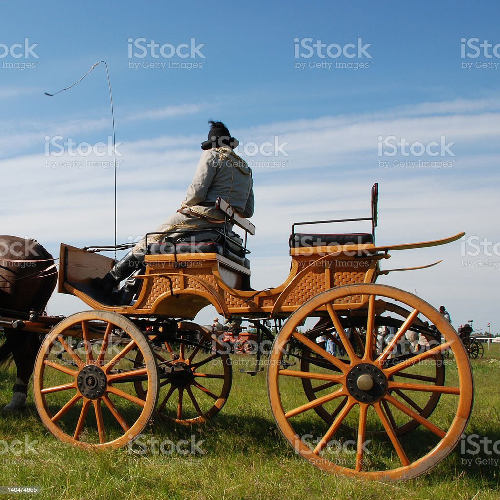 horse carriage with driver royalty-free stock photo