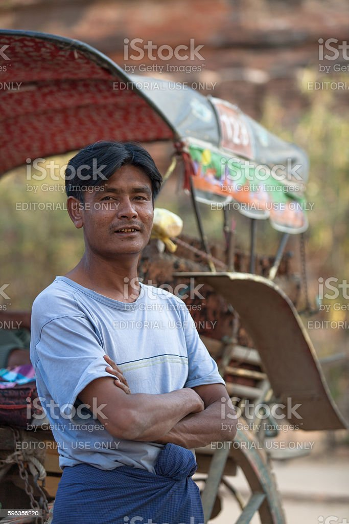 Horse cart driver royalty-free stock photo