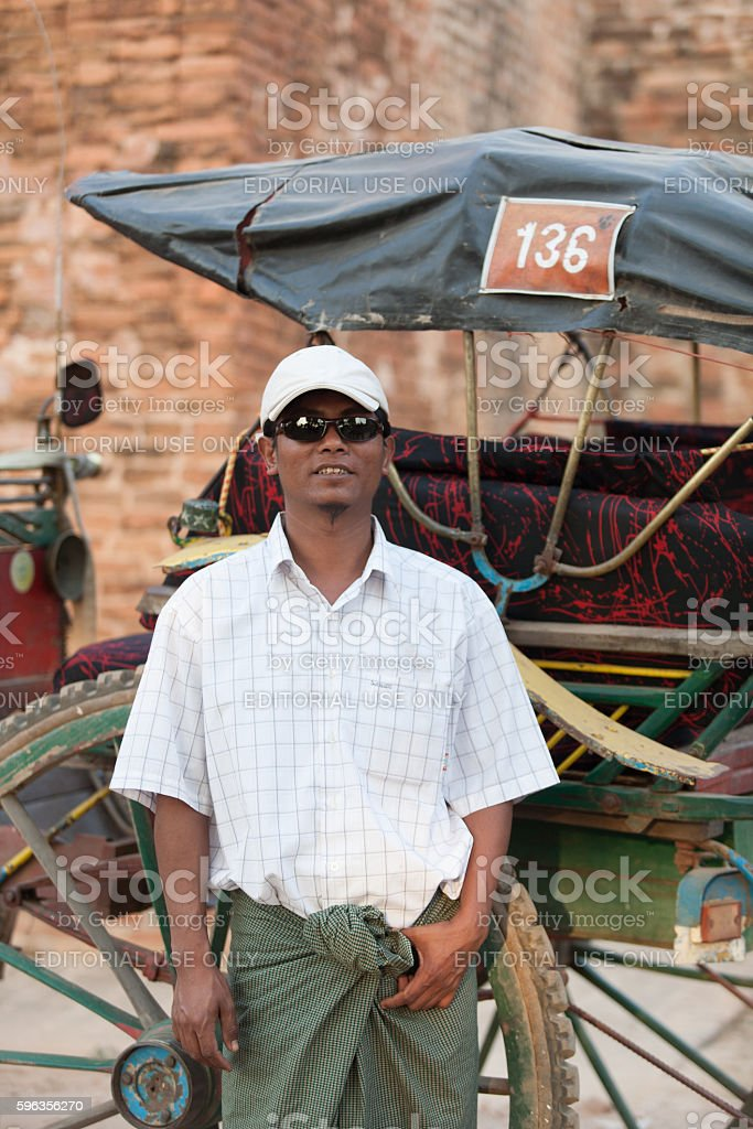 Horse cart driver royalty-free stock photo