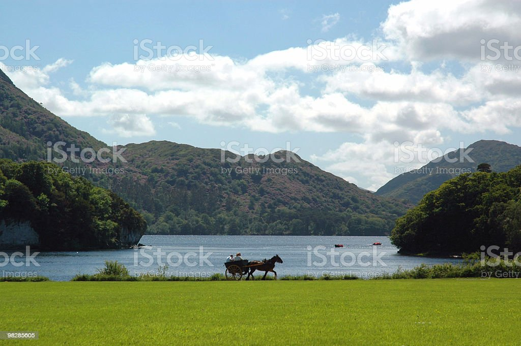 Horse Cart in a picturesque location royalty-free stock photo