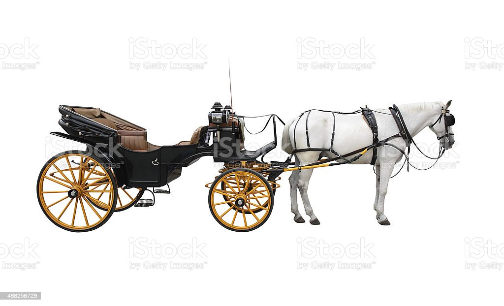 Horse Cart stock photo