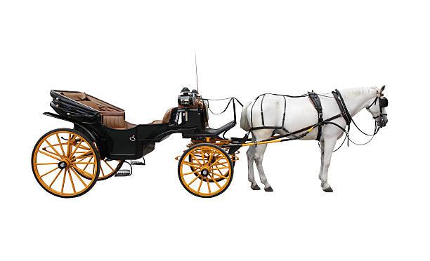 horse cart - pferdekutsche stock-fotos und bilder