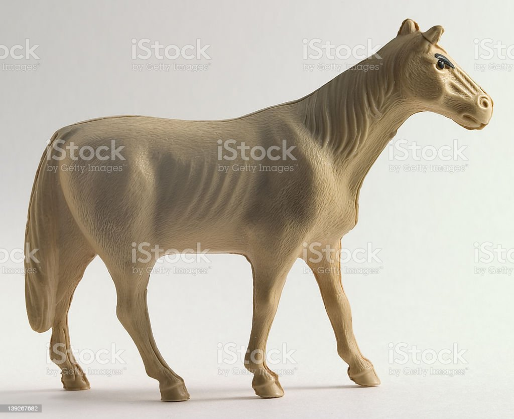 Horse, celluloid toy royalty-free stock photo
