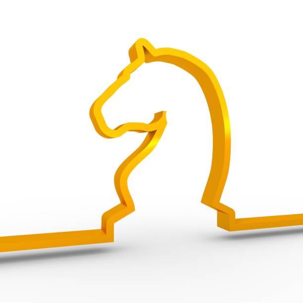 icône de cheval de jeu d'échecs. - icône de ligne photos et images de collection