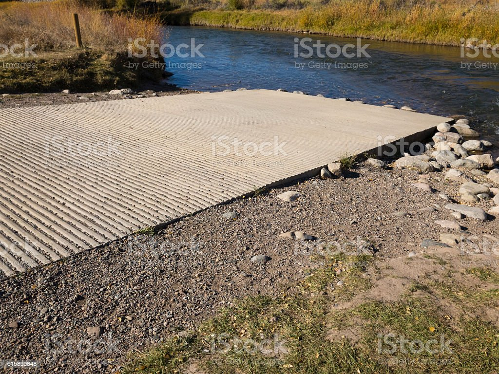 Horse Creek Put In Take Out Colorado River stock photo