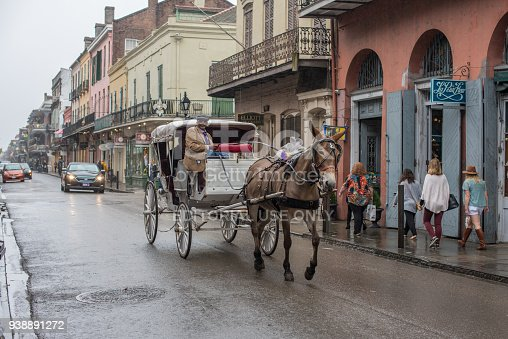 938895626 istock photo Horse drawn carriage in the French Quarter 938891272