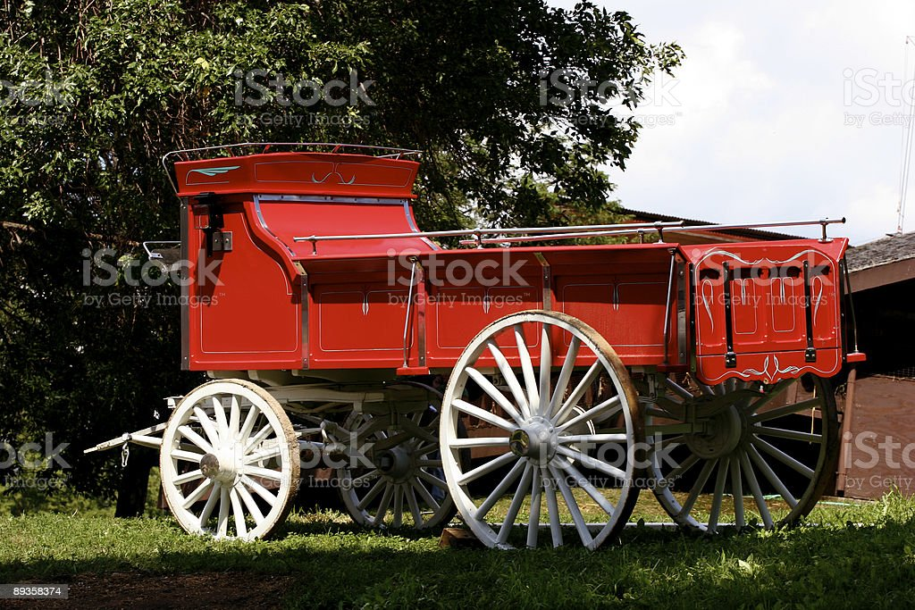Carrozza trainata da cavalli foto stock royalty-free
