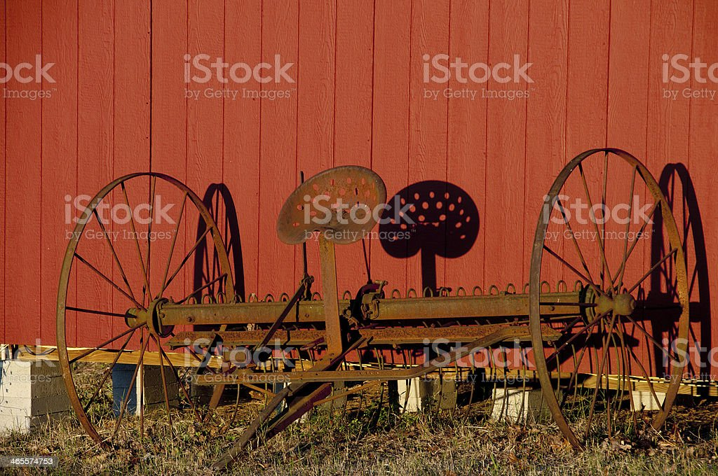 Horse Drawn Dump Rake royalty-free stock photo