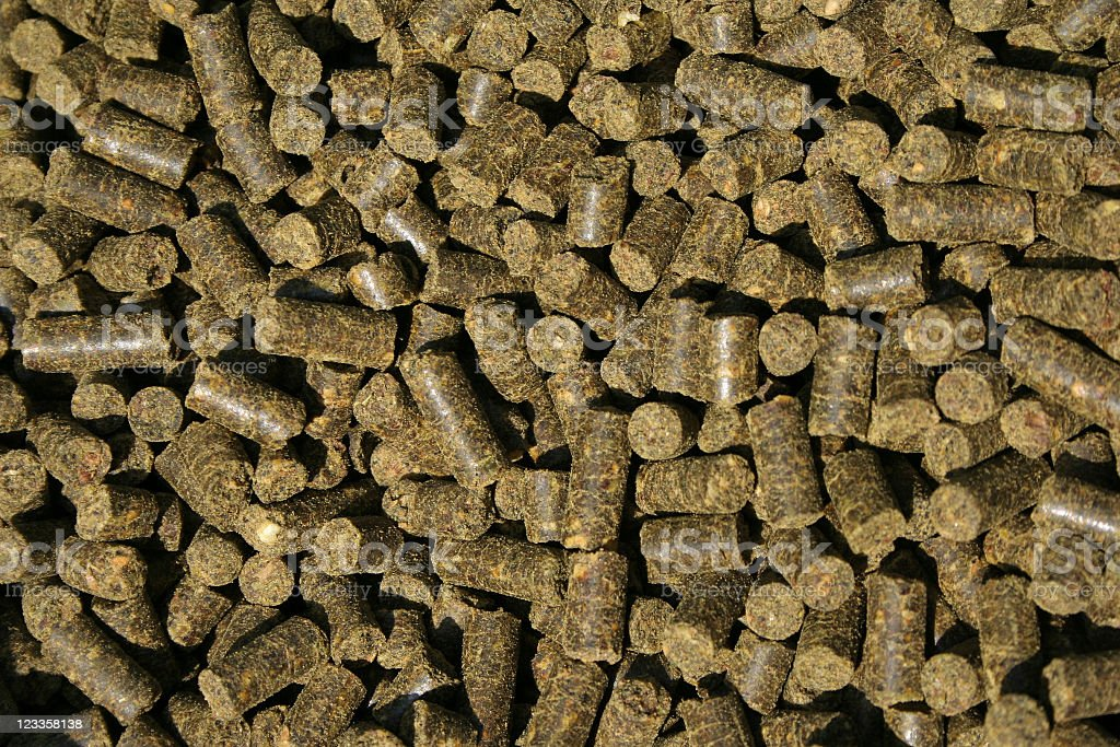 Horse food pellets stock photo
