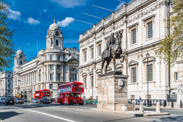 Horse Guards Avenue, London City Of Westminster - London, City of London, England, Europe, London - England london stock pictures, royalty-free photos & images