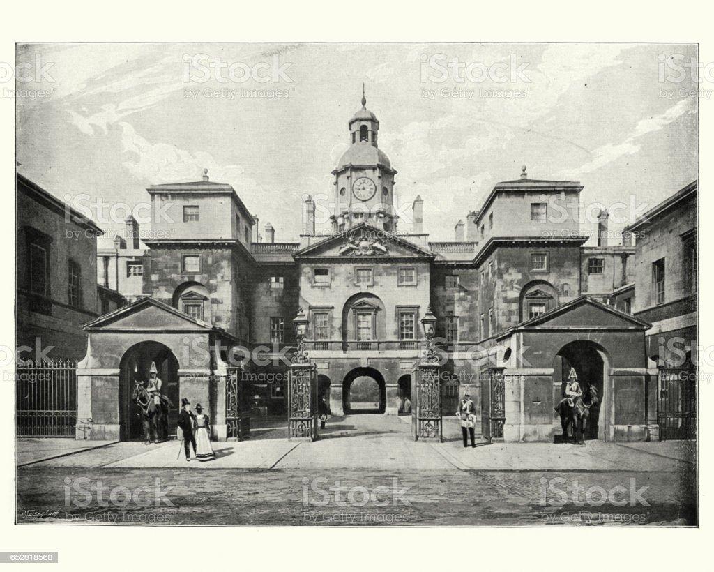 Horse Guards, London, 19th Century stock photo