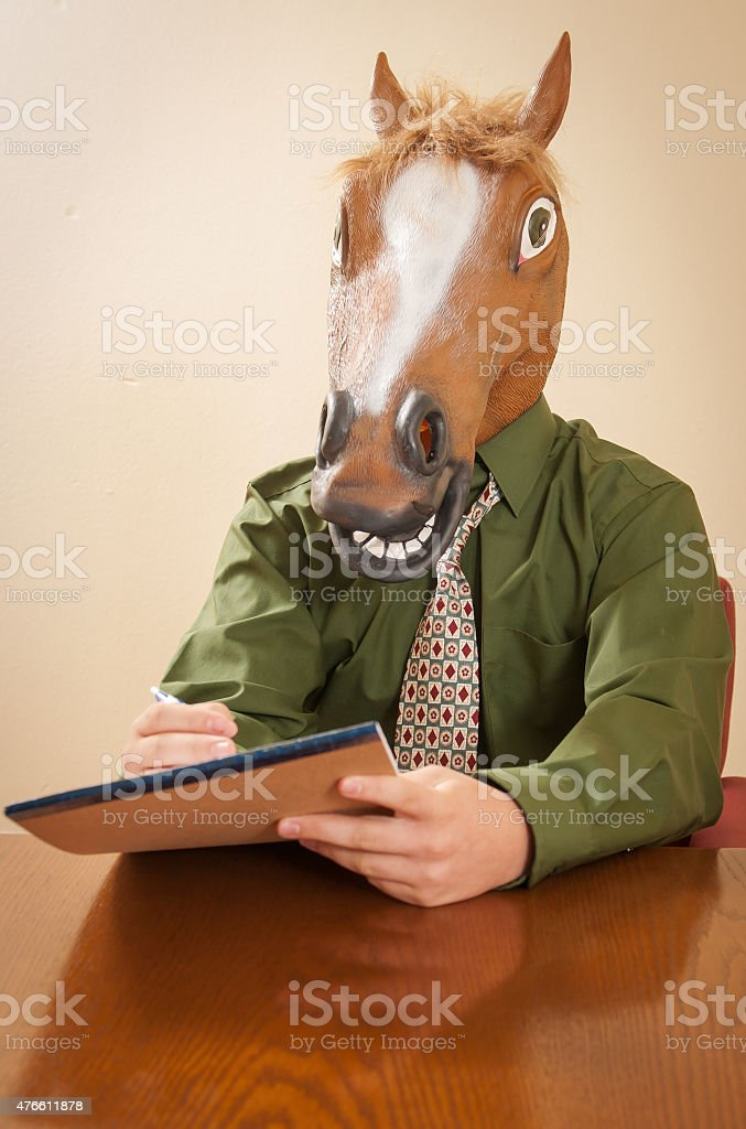 Horse Head Business Man At Conference Room Table Stock Photo Download Image Now Istock
