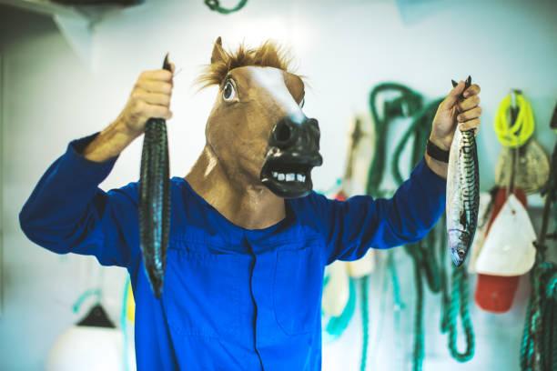 Horse head fisherman with fresh fish picture id917695784?b=1&k=6&m=917695784&s=612x612&w=0&h=8xwphnioxu4gbkqpz3d1injk0fr1wehimbmssqbuets=