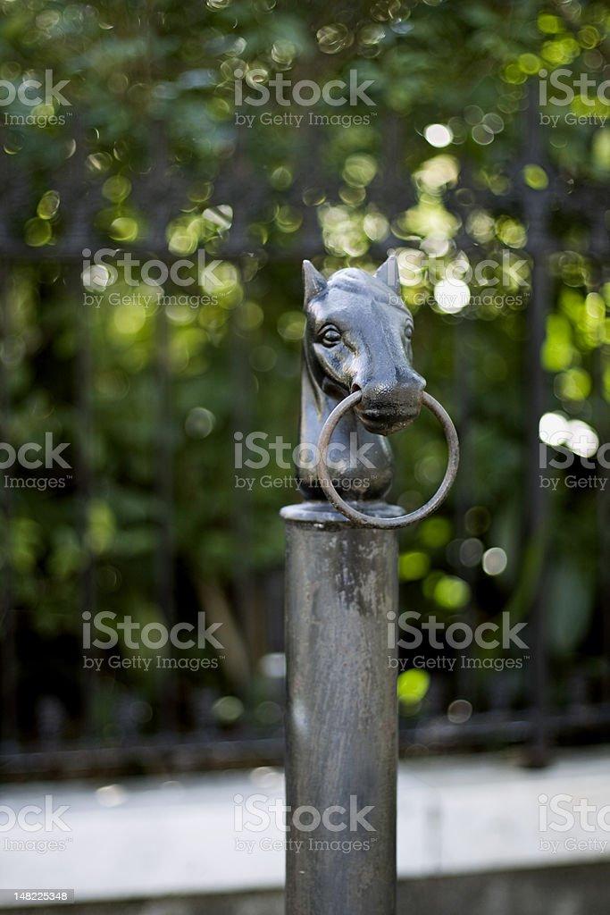 Horse Head Pole Two stock photo