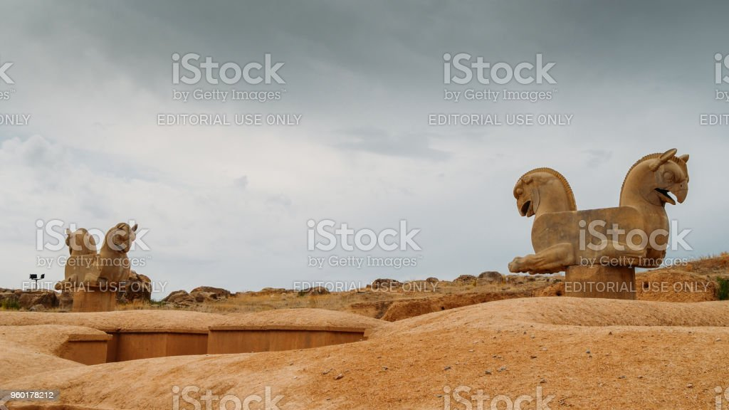 Horse Head Statues Persepolis Was The Ceremonial Capital Of The Achaemenid Empire Stock Photo Download Image Now Istock