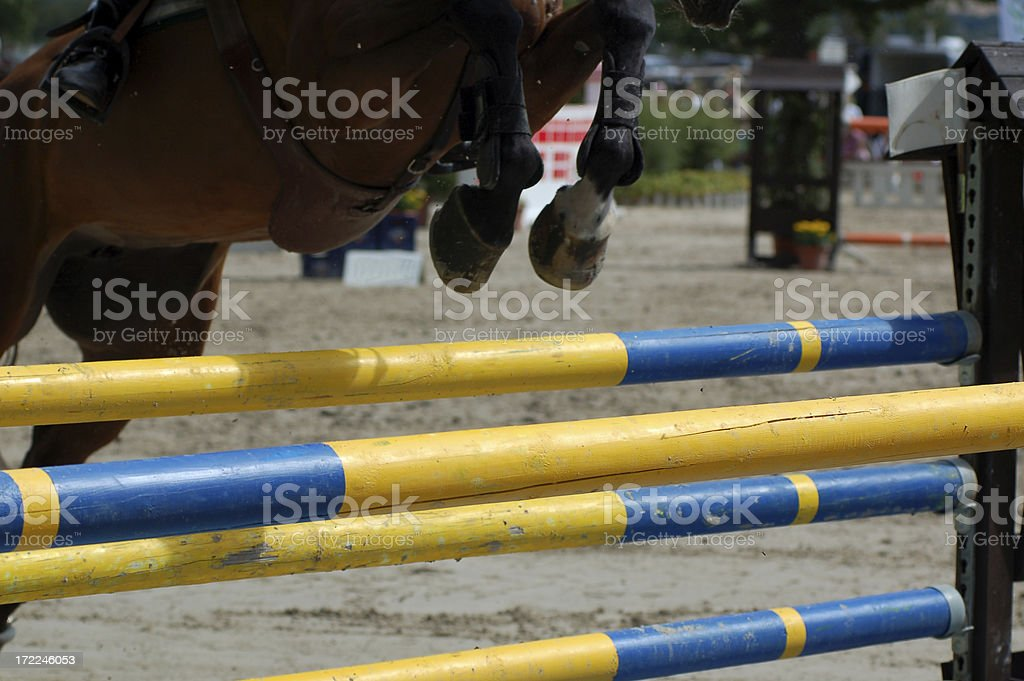 Horse jumping series royalty-free stock photo