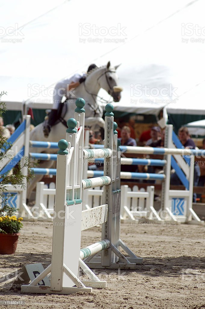 Horse jumping series stock photo