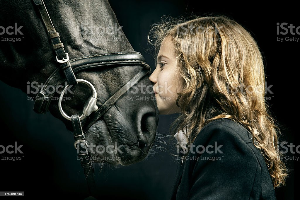 Horse Love stock photo
