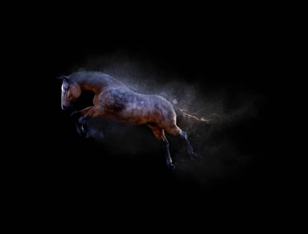 Een paard beweegt en springen foto