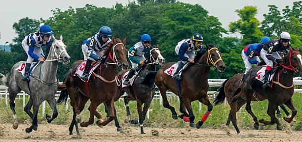 Horse race for the prize Jockey Cluba. stock photo