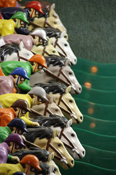 Carrera de caballos - foto de stock